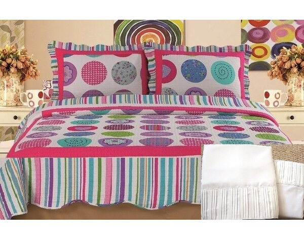 100% Cotton 7 Piece Reversible Quilt Set by Home Sensation